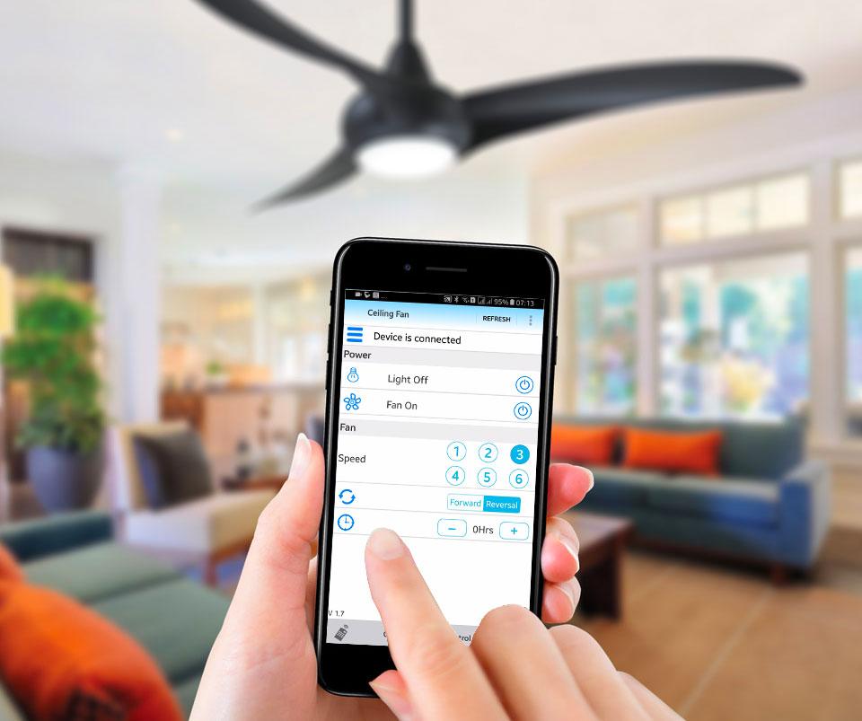 app điều khiển quạt trần Hồ Gia Phát