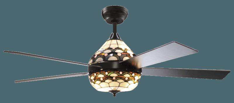 quạt trần 56YOF-3050 đã bật đèn
