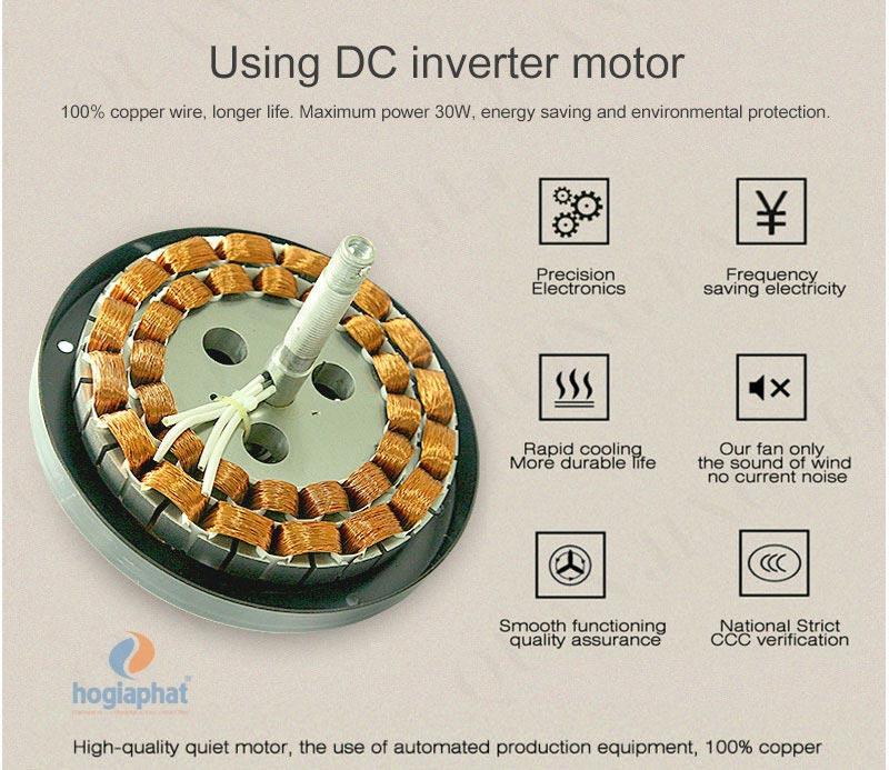 động cơ inverter DC tiết kiệm điện