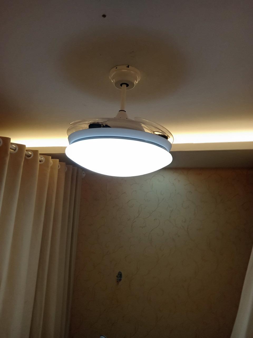 Quạt trần đèn model 6005 trang trí phòng khách