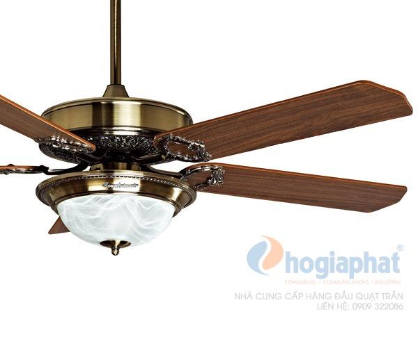 Quạt trần trang trí 1 chao đèn model 1053