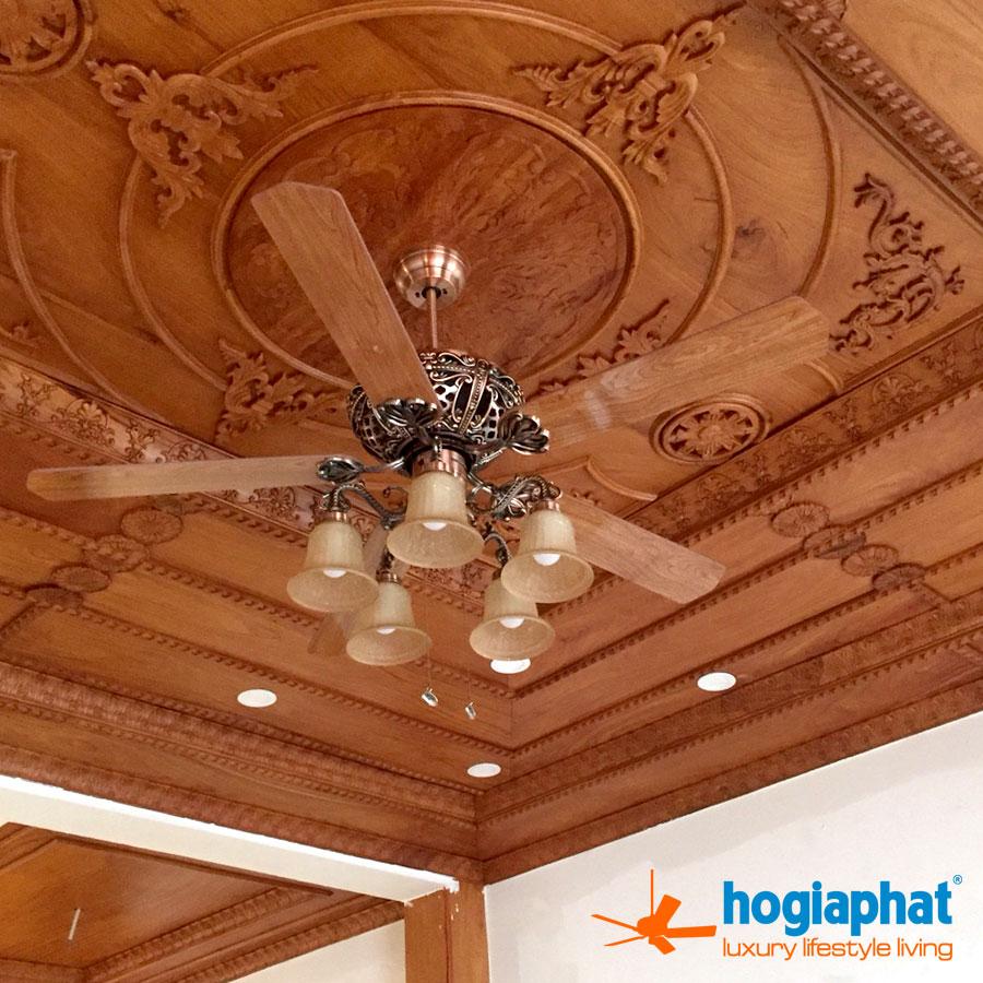 Lắp đặt quạt trần nhà khách