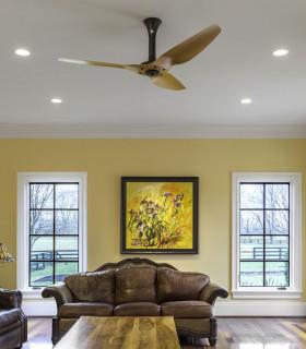 Quạt trần trang trí màu vàng HGP/60-1033