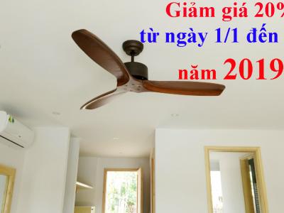 Ưu đãi giảm giá 20% quạt trần đèn cho dịp tết 2019