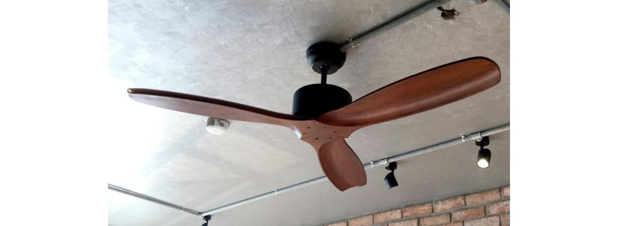 Quạt trần 3 cánh gỗ tự nhiên 52YOF-3092 kiểu dáng phong cách đơn giản