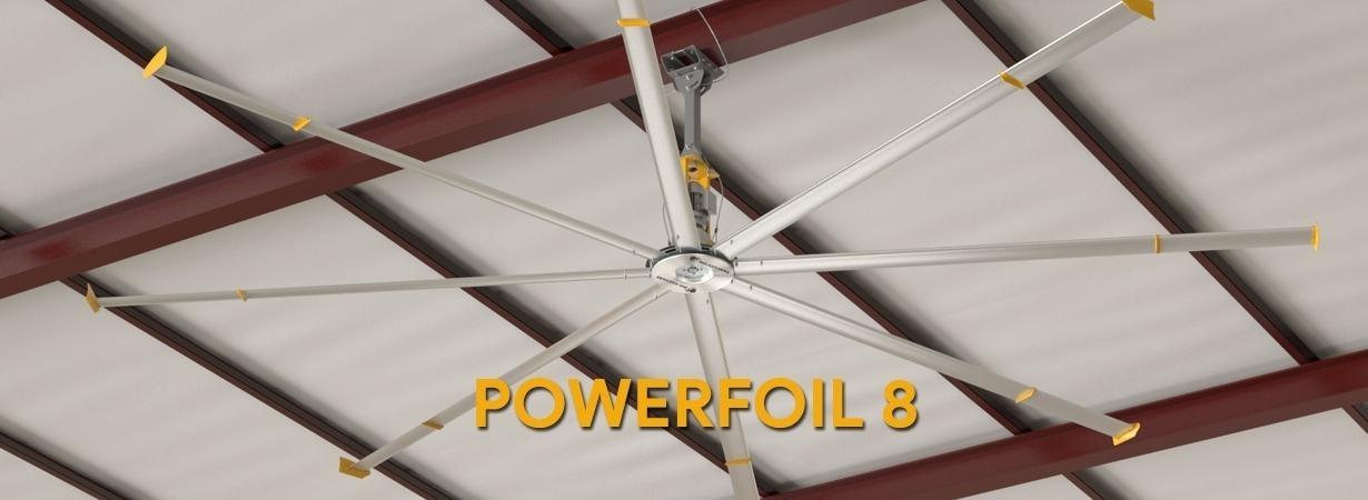Đánh giá quạt trần công nghiệp HVLS Powerfoil 8