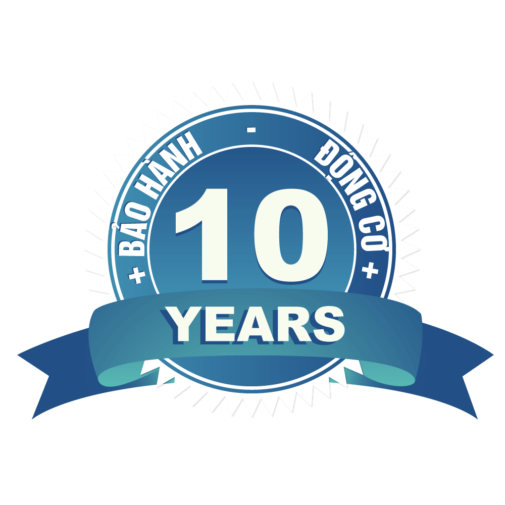 Bảo hành 10 năm động cơ